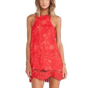 New XS coral CASPIAN SHIFT DRESS by LOVERS&FRIENDS